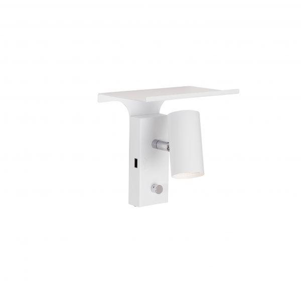 Tyson Hvid USB Væglampe