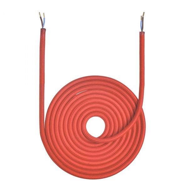 Tekstilkabel Rød 3m