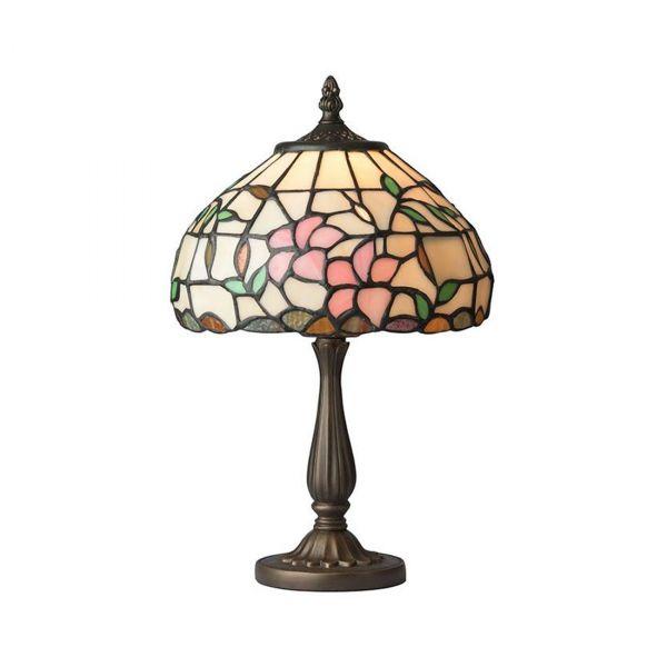 Hibiskus 20cm Tiffany Bordlampe