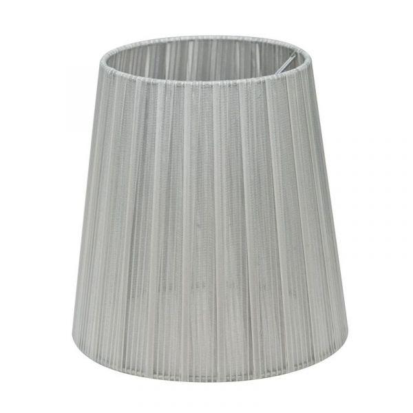 Skærm Organza 17 cm Sølv