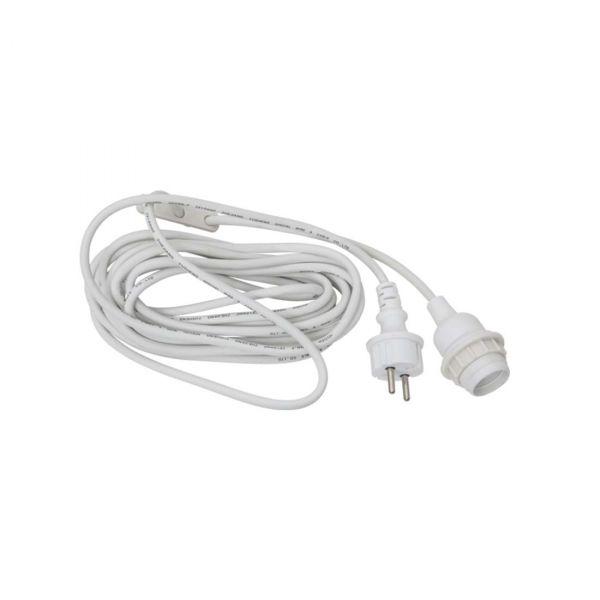Kabel Hvid E27 5m IP44 Udendørs