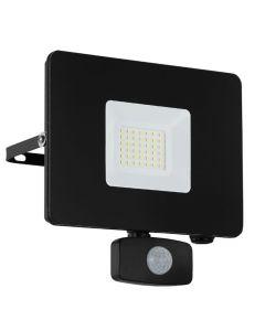 Faedo 3 LED Strålkastare 30W Svart Sensor IP44 från Eglo