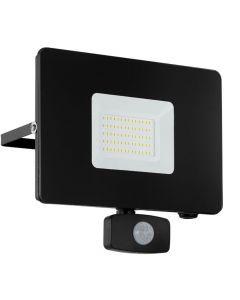 Faedo 3 LED Strålkastare 50W Svart Sensor IP44 från Eglo