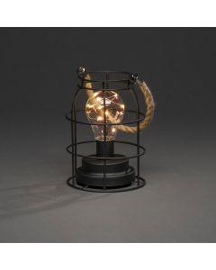 Rund Metallanterna 18cm Med 9 amber LED Timer 6H Batteri från Konstsmide