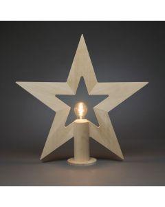 Stjärna Stående 57cm Trä Natur E27 från Konstsmide