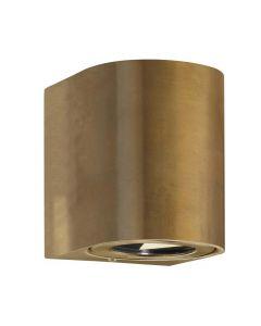 Canto 2 Vägglampa Mässing 2x6W IP44 från Nordlux