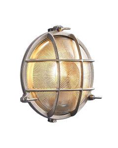 Polperro Nickel IP64 Vägglampa från Nordlux