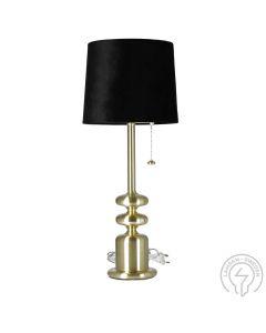 Tanger Mässing/Svart Bordslampa från Oriva