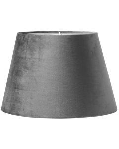 Oval Sammet Grå 25cm Lampskärm från Pr Home