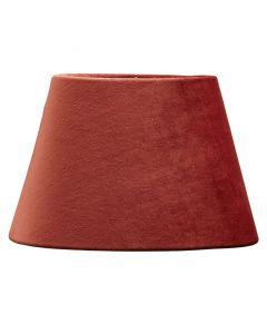 Oval Sammet Rost 20Cm Lampskärm från Pr Home