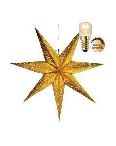 Antique Guld 60Cm Julstjärna Inkl Ljuskälla från Star Trading