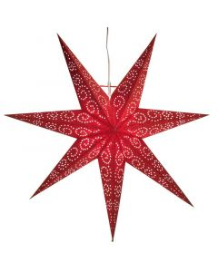 Antique Röd 60Cm Julstjärna från Star Trading