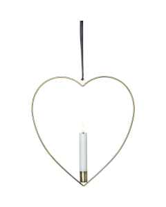 Flamme  Inomhusdekoration Hjärta 28cm Mässing Batteri från Star Trading