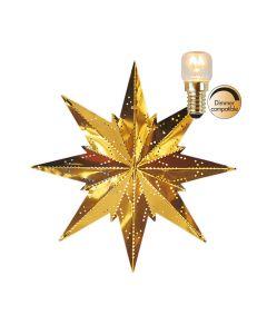 Stjärna Mini Mässing 25cm Inkl Ljuskälla från Star Trading