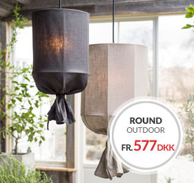 Round Outdoor Loftskærm Udendørsbelysning PR Home