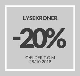 -20% rabat på Lysekroner