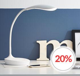 Swan Skrivebordslampe med USB