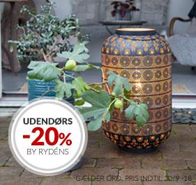 TILBUD! 20% UTELAMPER FRA BY RYDÉNS